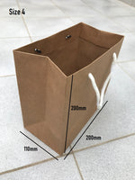 50-200 BULK BROWN KRAFT CRAFT PAPER GIFT CARRY BAGS WITH HANDLES Various size