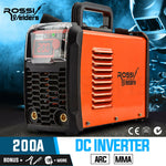 ROSSI MMA 200Amp Welder DC iGBT Inverter ARC Welding Machine Stick Portable