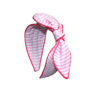 Striped Fabric Knot Bow Headband