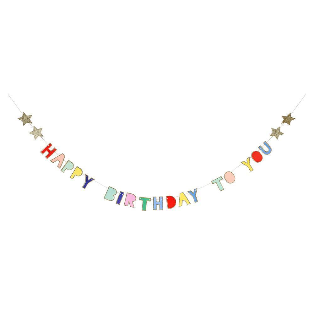 Multicolour Happy Birthday Garland
