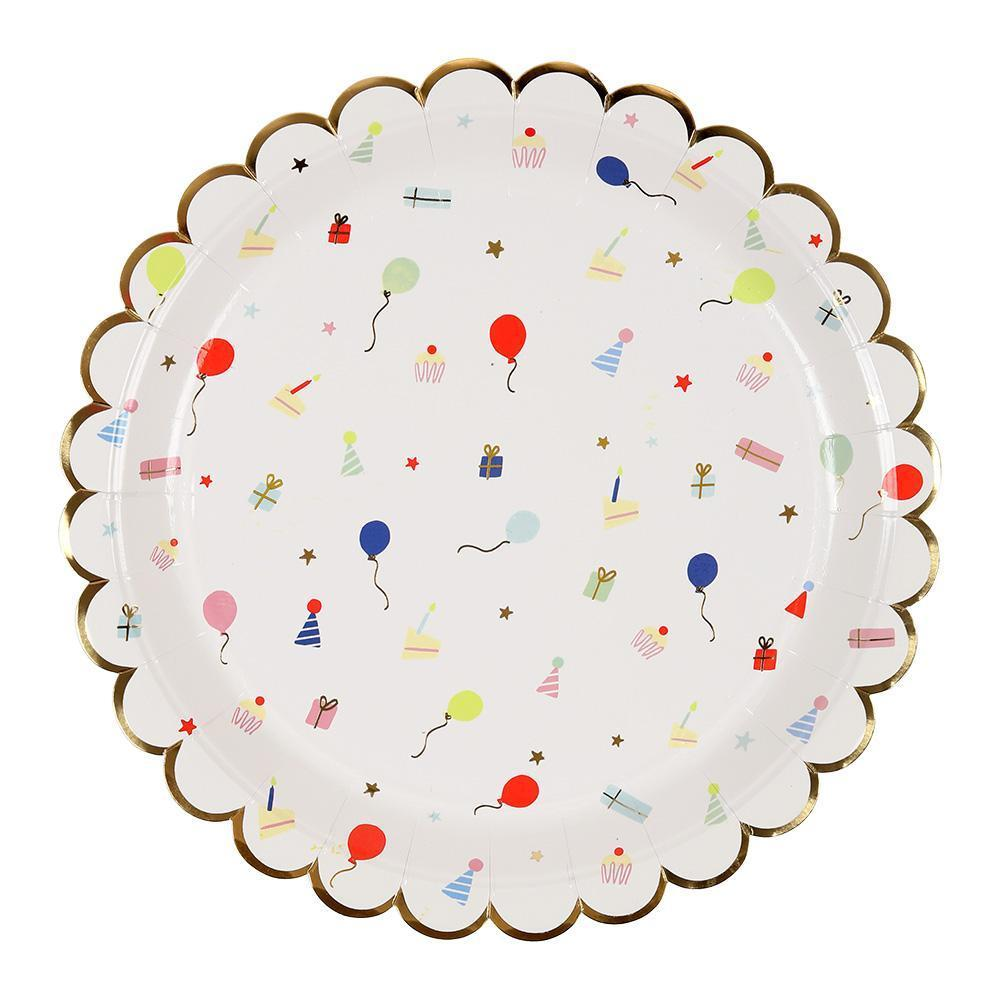 Party Icon Scallop Edge Plates