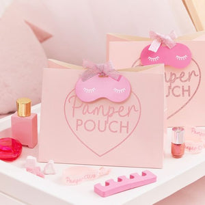 PINK GLITTER SPA PARTY BAG