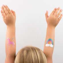 unicorns + rainbows temporary tattoos