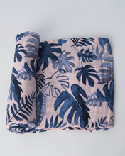 COTTON SWADDLE - TROPICAL PINK