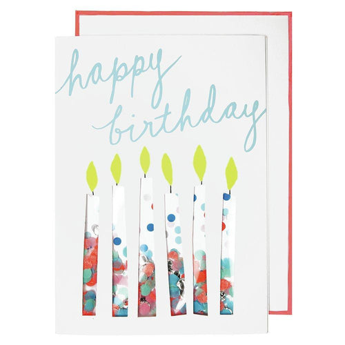 Confetti Candles Card