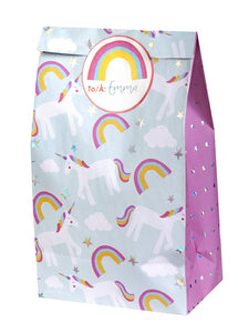 Unicorn treat bag with sticker