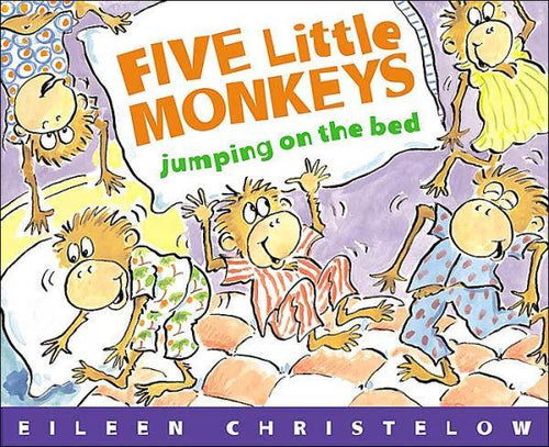 BOOK & PLAYSET- Five Little Monkeys