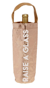 WINE BAG - RAISE A GLASS - ROSE GOLD