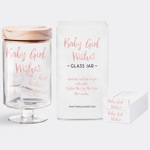 Baby Girl Wishes Glass Jar