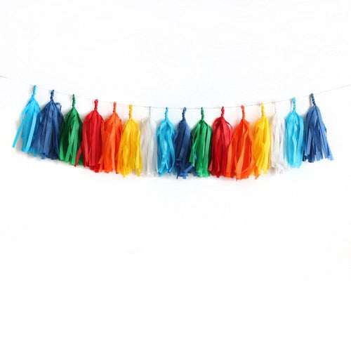 Classic Birthday Tassel Garland - Fully Assembled