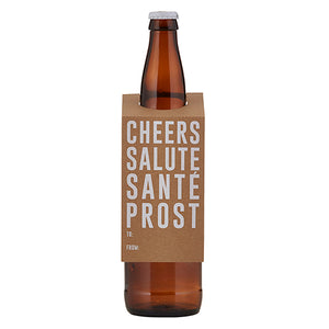 CHEERS - BEVERAGE BOTTLE TAG