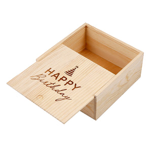 MEDIUM SWEETS WOOD BOX - HAPPY BIRTHDAY