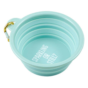 COLLAPSIBLE PET BOWL - SPARKLING OR STILL?