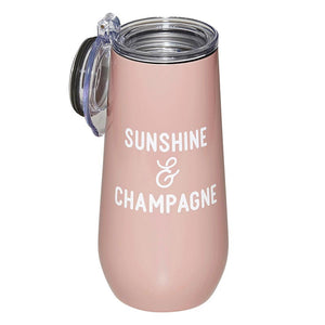 CHAMPAGNE TUMBLER - SUNSHINE AND CHAMPAGNE