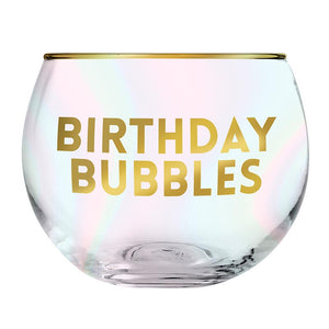 Roly Poly Glass - Birthday Bubbles