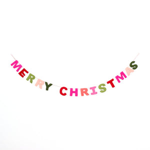 Merry Christmas Felt Garland - PRESALE