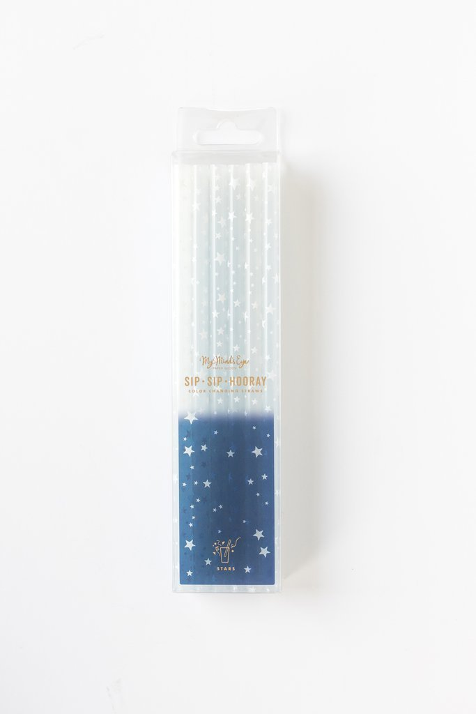 COLOR CHANGING STRAWS - STARS