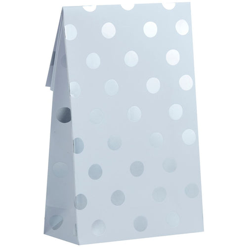 SILVER FOILED POLKA DOT PARTY BAG