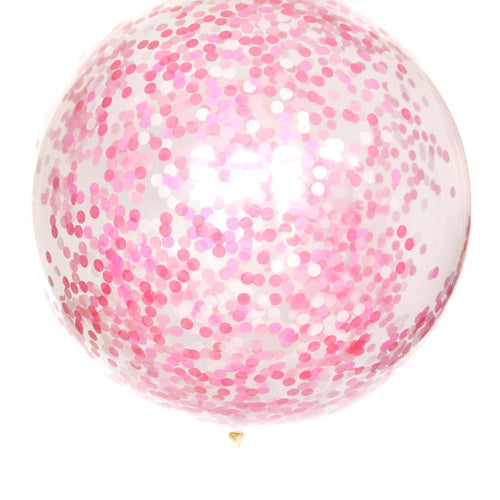 Perfectly Pink Confetti Balloon