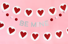 BE MINE FELT BALL BANNER