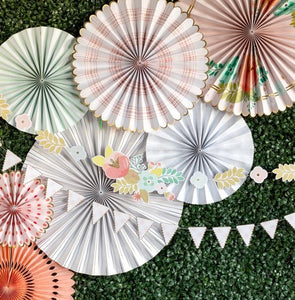 GARDEN PARTY FLORAL & PENNANT BANNER SET