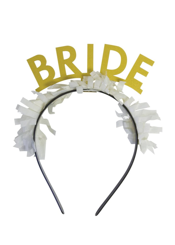 HEADBAND: 'BRIDE'- GOLD