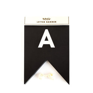BLACK & WHITE LETTER BANNER (includes 56 letters)