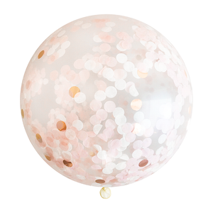 "Confetti Balloon - 36"" - Blush & Rose Gold"