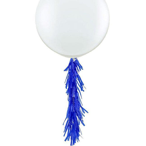 Cobalt Frilly Balloon Tassels (balloon not included)
