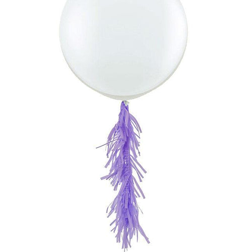 Lavender Frilly Balloon Tassel (balloon not included)