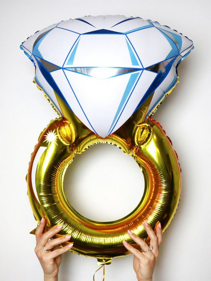 Giant Engagement Ring Balloon