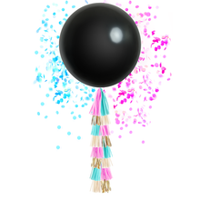 Gender Reveal Balloon with  Tassels