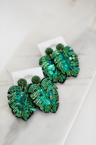 The Wensley Earring In Green