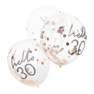 Hello 30 Birthday Balloons