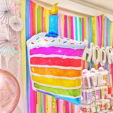 Rainbow Cake and Candle Balloon