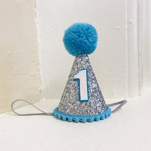 Silver + Turquoise First Birthday Hat