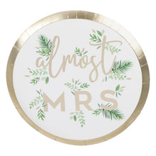 GOIL FOILED ALMOST MRS HEN PARTY PLATES