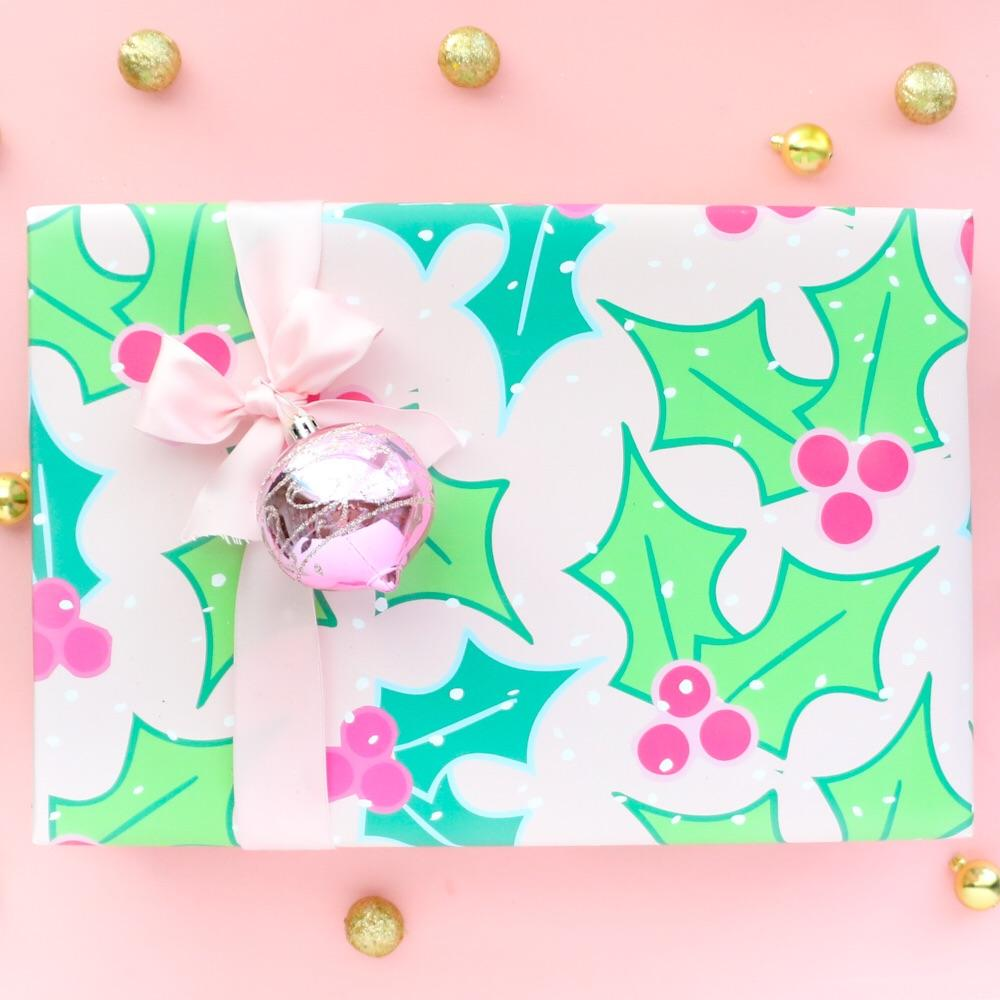 Holly Berry Holiday Wrapping Paper - PRESALE