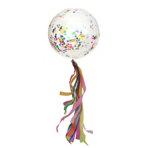 Bright Rainbow Balloon Streamer (balloon not included)