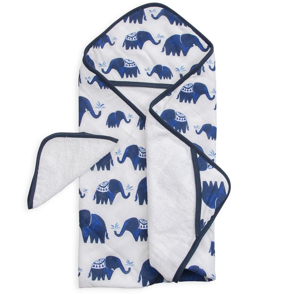 HOODED TOWEL SET- ELEPHANT