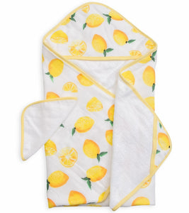 HOODED TOWEL SET - LEMON