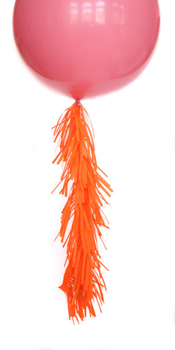 Melon Frilly Balloon Tassels (balloon not included)