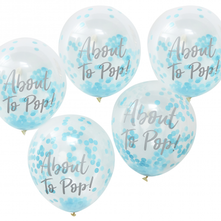 ABOUT TO POP! CONFETTI BALLOONS