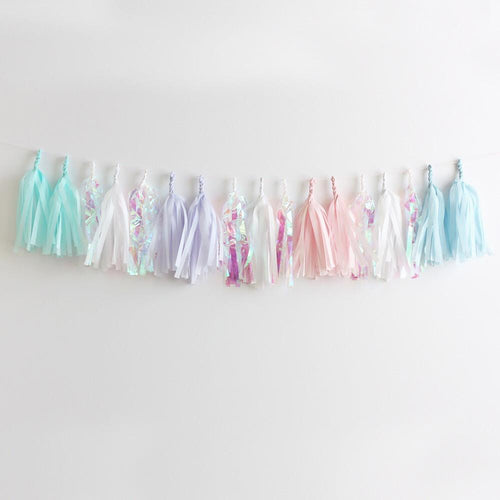 Pearly Shell Fringe Tissue Tassel Garland - Fully Assembled