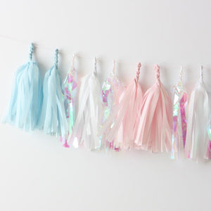 Pearly Shell Fringe Tissue Tassel Garland Kit or Fully Assembled