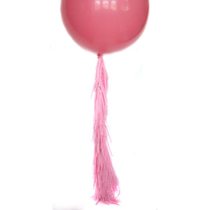 Pink Frilly Balloon Tassel (balloon not included)