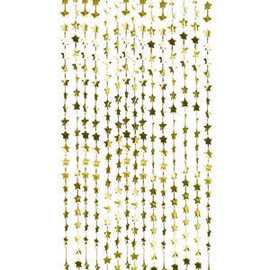 GOLD FOIL STAR BACKDROP CURTAIN