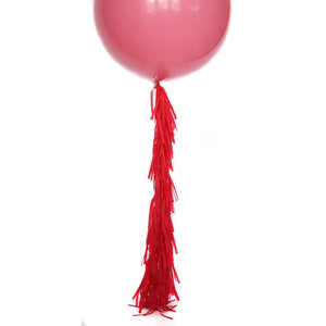 Red Frilly Balloon Tassel (balloon not included)