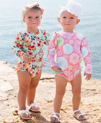 Tropical Garden One Piece Rash Guard (6-12 months)