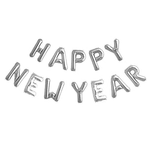 "16"" Air-Fill Silver Happy New Year Balloon Kit"